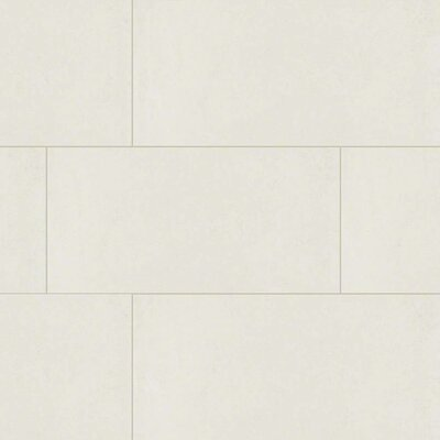 Dimensions Glacier 12 x 24 Porcelain Field Tile in Gray