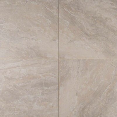 Onyx Grigio 24 x 24 Porcelain Tile in Beige (Set of 3)