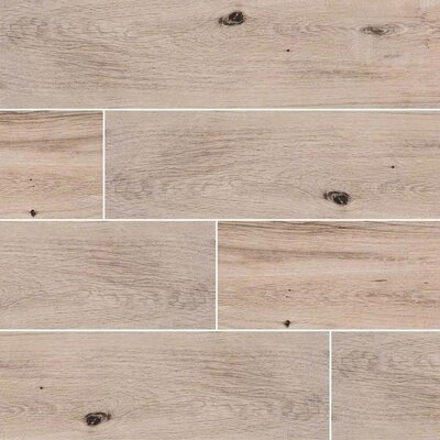 Palmetto Fog 6 x 36 Porcelain Tile Wood Look in Gray