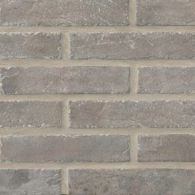 Capella Taupe Brick 2.33 x 10 Porcelain Tile in Off-White