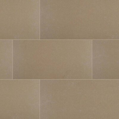 Dimensions Khaki 12 x 24 Porcelain Tile in Beige