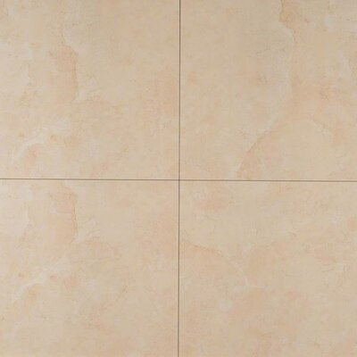 Pietra Marfil 24 x 24 Porcelain Field Tile in Beige (Set of 3)