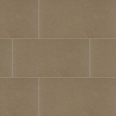 Dimensions Olive 24 x 24 Porcelain Tile in Beige  (Set of 3)