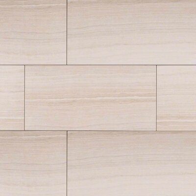 Eramosa 12 x 24 Porcelain Wood Look/Field Tile in White