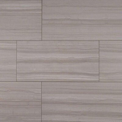 Sophie Gray 12 X 24 Porcelain Wood Look Tile in Gray