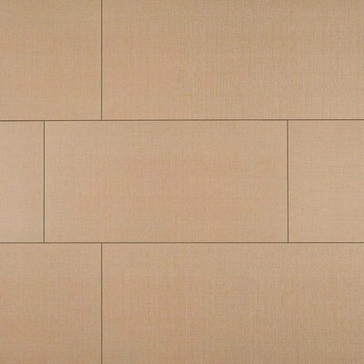 Loft Khaki 12 x 24 Porcelain Fabric Look/Field Tile in Beige