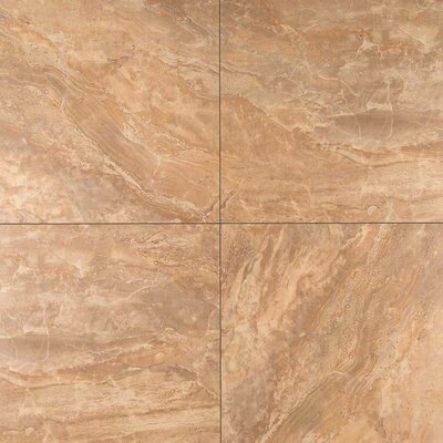 Onyx Noche 18 x 18 Porcelain Field Tile in Brown