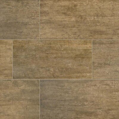 Metropolis 12 x 24 Porcelain Wood Look/Field Tile in Brown