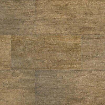 Metropolis 12 x 24 Porcelain Wood Look/Field Tile in Brown