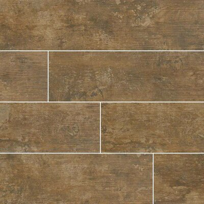 Ecowood Tungsten 6 x 24 Porcelain Wood Look Tile in Brown