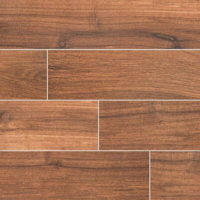 Palmetto Chestnut 6 x 36 Porcelain Tile Wood Look in Brown