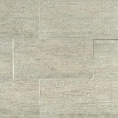 Metropolis Cloud 12 x 24 Porcelain Field Tile in Gray