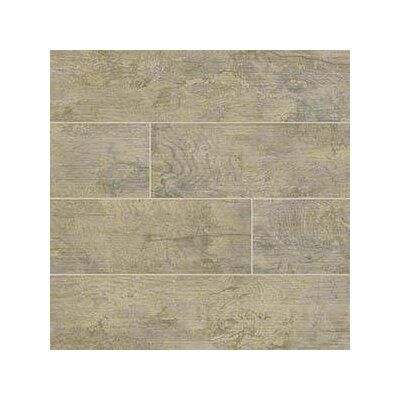 Ecowood Copper 6 x 24 Porcelain Wood Look Tile in Brown