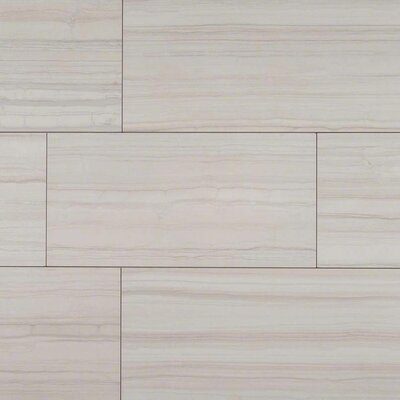 Sophie White 12 X 24 Porcelain Wood look Tile in White