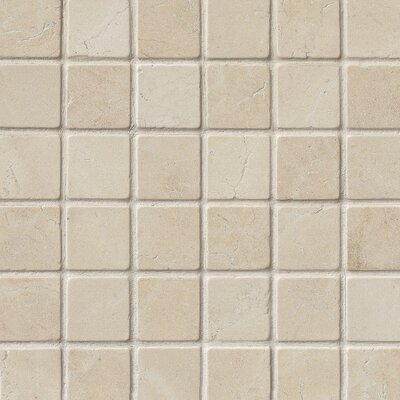 Tumbled 2 x 2 Marble Mosaic Tile in Beige