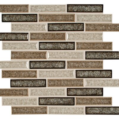 Venetian Cafe 1 x 4 Glass Mosaic Tile in Brown