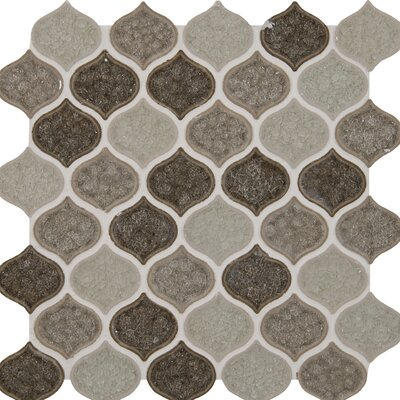 Taza Blend Lantern Glass Mosaic Tile in Brown