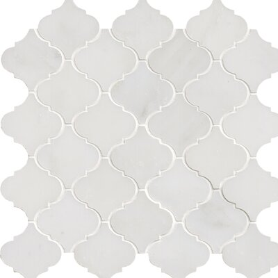 Greecian Marble Mosaic Tile in White