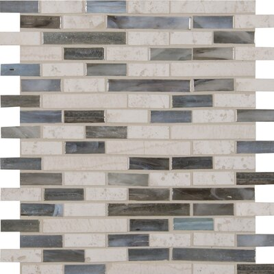 Kaledo Blend Interlocking Glass/Stone Mosaic Tile in Beige