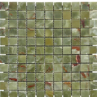 Onyx 1 x 1 Onyx Mosaic Tile in Green