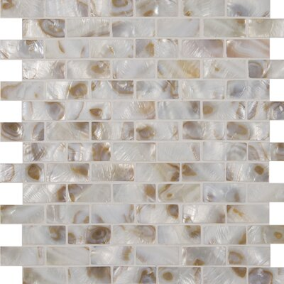 Santorini Brick Glass Mosaic Tile in White