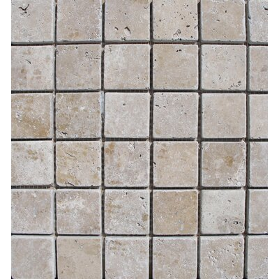 Tuscany Tumbled 2 x 2 Travertine Mosaic Tile in Brown
