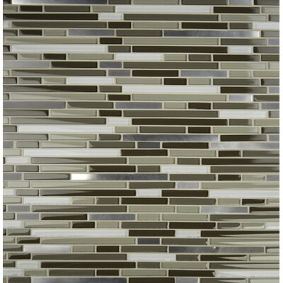 Escorial Blend Interlocking Glass Mosaic Tile in Brown