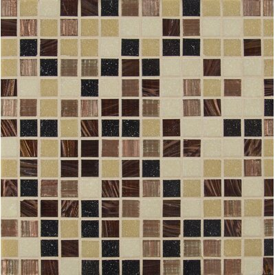 Desert Sunset 0.75 x 0.75 Glass Mosaic Tile in Brown