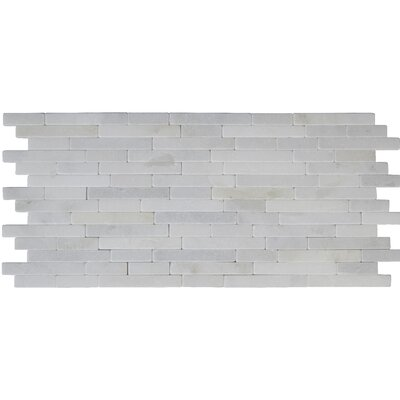 Greecian Tumbled Veneer Marble Splitface Tile in White