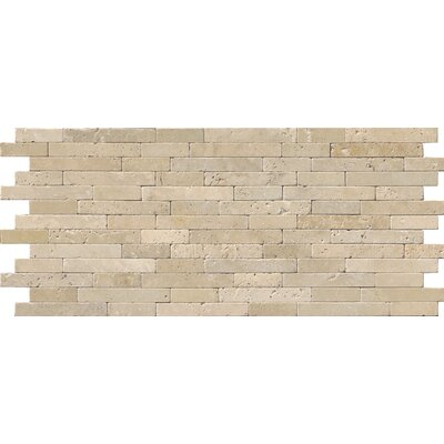 Chiaro Tumbled Veneer Travertine Staggered tile in Beige