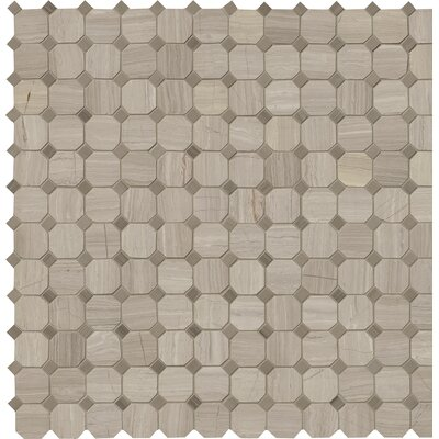 Honed 2 x 2 Marble Mosaic Tile in Gray