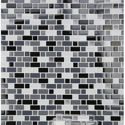 Crystal Cove Blend Glass Mosaic Tile in White