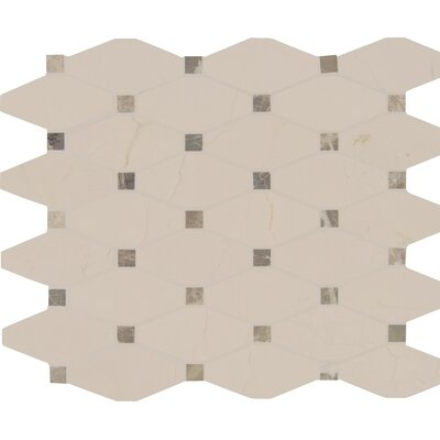 Valencia Blend Elongated Marble Mosaic Tile in Beige