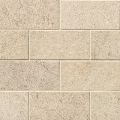 3 x 6 Limestone Subway Tile in Coastal Sand
