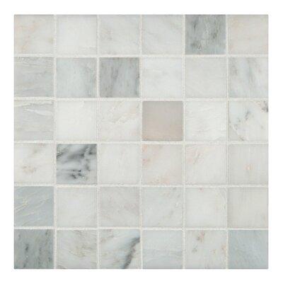 Arabescato Carrara 2 x 2 Grid Marble Mosaic Tile