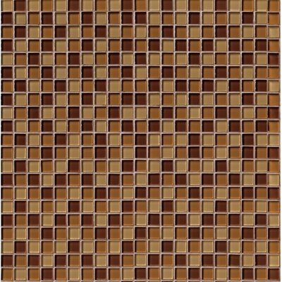 Crystallized 1 x 1 Glass Mosaic Tile in Brown