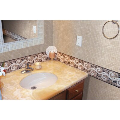 0.625 x 0.625 Marble Mosaic Tile in Crema Marfil