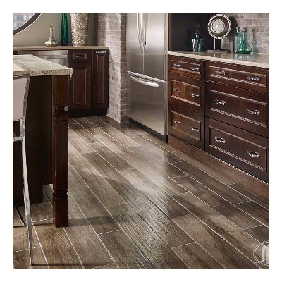 Palmetto Smoke 6 x 36 Porcelain Wood Look Tile in Gray