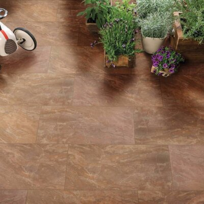 Onyx Noche 12 x 24 Porcelain Field Tile in Brown
