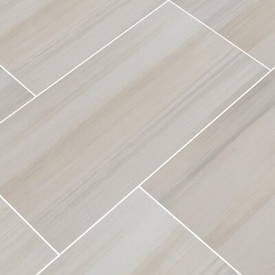 Watercolor Bianco 12 x 24 Porcelain Field Tile in White