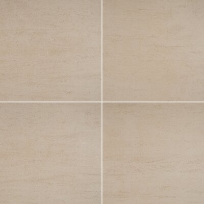 24x 24 Porcelain Field Tile in Beige