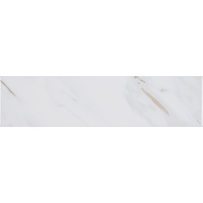 Classique Calacatta 4 x 16 Ceramic Tile in White