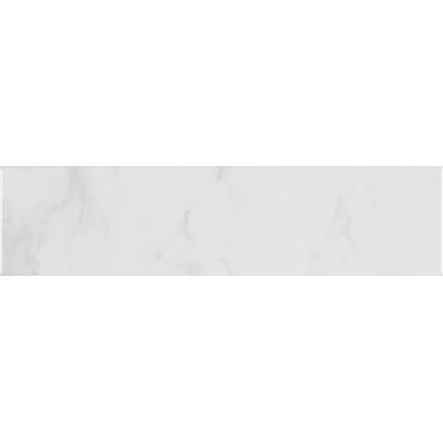 Classique Carrara Glossy Mix 4 x 16 Ceramic Tile in White