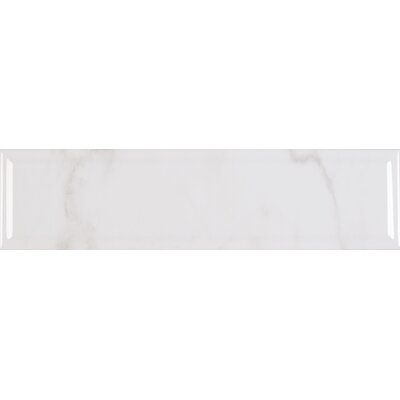 Classique Carrara 4 x 16 Ceramic Tile in White