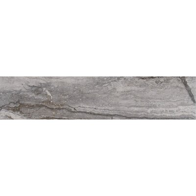 Bernini Carbone 4 x 18 Porcelain Field Tile in Gray
