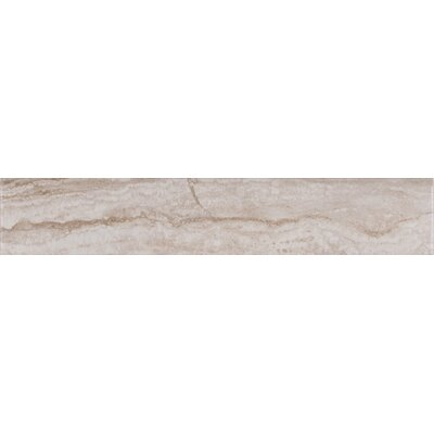 Bernini Camo Matte Bull Nose 3 x 18 Porcelain Tile in Gray