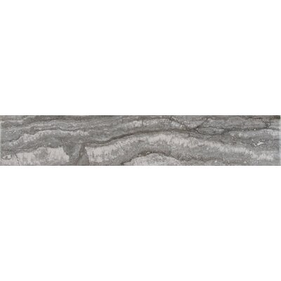 Bernini Carbone 3 x 18 Porcelain Field Tile in Gray