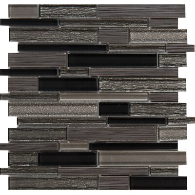 Metro Gris Blend Interlocking 12 x 12 Mixed Material Mosaic Tile in Gray