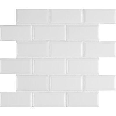 Frost Bevel 2 x 4 Ceramic Subway in White