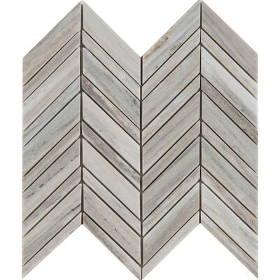 Palisandro Chevron Pol 12 x 12 Ceramic Mosaic Tile in Gray